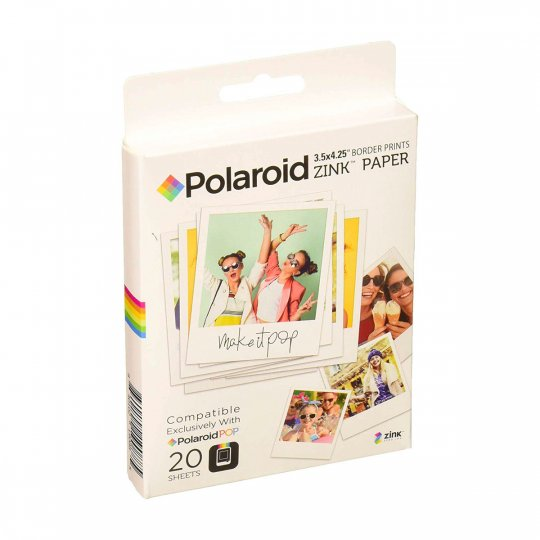 "Polaroid Carta POP Zink 3x4"" - 20 Fogli"