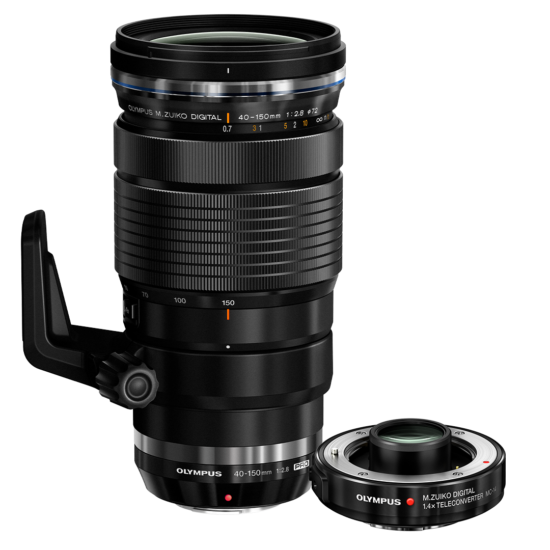 M.ZUIKO  40-150mm 1:2.8 PRO & MC 1.4