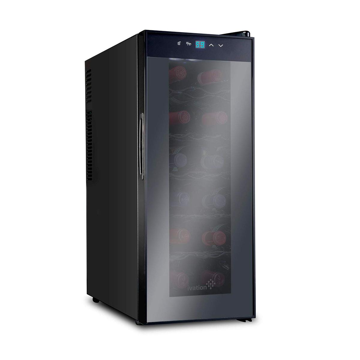 Sistema di refrigerazione di vini a temperatura e ambiente costante e stabile per 12 bottiglie